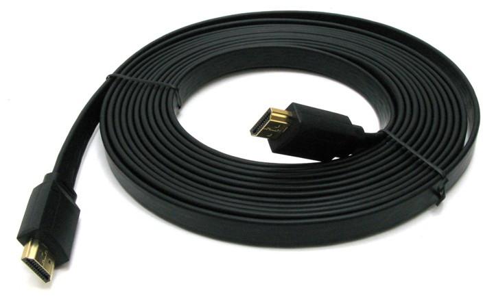 Кабель HDMI 5 метров v1.4 плоский