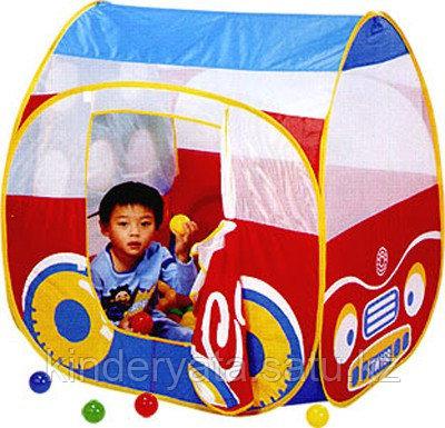 Игровая палатка  Дом -автомобиль + 100 шаров Calida (95х85х100)
