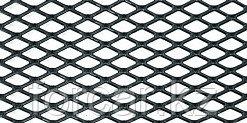 Сетка на решетку радиатора универсальная, 100х40см, черная, ромб 10мм