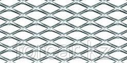Сетка на решетку радиатора универсальная, 100х25см, серебристая, ромб 15мм