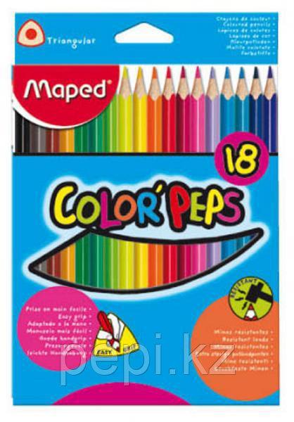 Карандаши цветные 18 цв MAPED