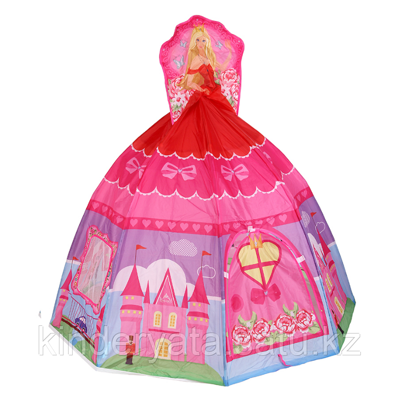 CALIDA Дом + 100 шаров ПРИНЦЕССА розовая (136x136x125cm)