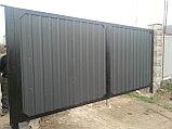 Металлические ворота из профлиста с установкой, фото 2