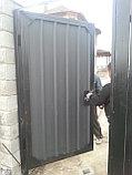 Металлические ворота из профлиста с установкой, фото 3
