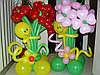Цветы букетом из шаров в Павлодаре