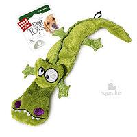 75021 GigWi, ГигВи, Крокодил с 4-мя пищалками, тканевая игрушка для собак, 38см.