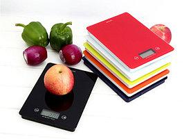 Кухонные электронные весы с платформой из закаленного стекла , красный