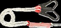 Строп с амортизатором текстильный со стальным карабином и со стальным захватом монтажный пояс