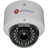 Внутренняя купольная 2Мп IP-камера с вариофокальным объективом и ИК-подсветкой. Матрица 1/2.7'' CMOS 2Мп, чувс
