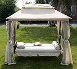 Качели садовые раскладная кровать+беседка и маскитка, фото 3