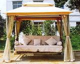 Качели садовые раскладная кровать+беседка и маскитка, фото 2