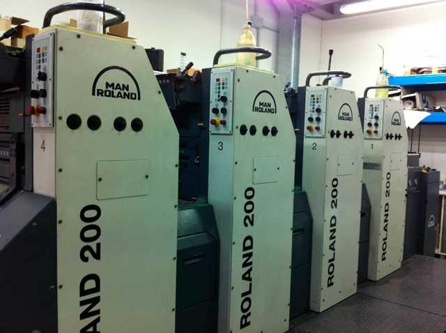 Man Roland 204 EOB б/у 2004г - 4-красочная печатная техника