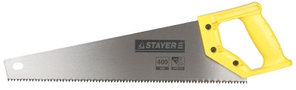 "Ножовка STAYER ""MASTER"" ""ТАЙГА"", прямой крупный перетачиваемый зуб, двухкомпонентная рукоятка, 4 TPI, 500мм"