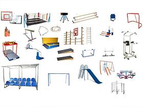 Школьный спортзал и гимнастика