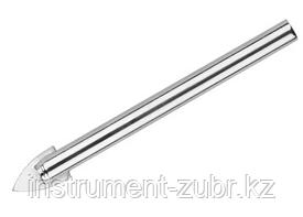 Сверло по кафелю, керамике, стеклу, с двумя режущими лезвиями, цилиндрический хвостовик, 4 мм, URAGAN 29830-04