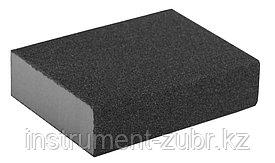 "Губка шлифовальная ЗУБР ""МАСТЕР"" четырехсторонняя, средняя жесткость, Р120, 100х68х26мм"