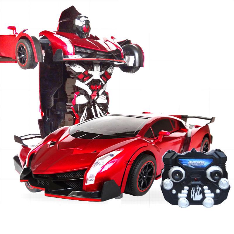 Радиоуправляемый робот-трансформер Ferrari tt667 красный
