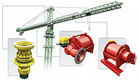 Комплектующие редуктора механизма поворота, вылета стрелы, механизма передвижения