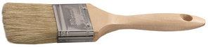 """Кисть плоская STAYER  """"UNIVERSAL-LUX"""", светлая натуральная щетина, деревянная ручка, 63 мм"""