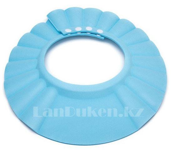 Шапочка козырек для купания детей голубая (чепчик для купания)
