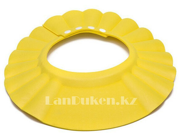 Шапочка козырек для купания детей желтая (чепчик для купания)