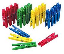 """Набор прищепок бельевых """"24 Pinzas Plastico"""" (пластиковые цветные прищепки 24 шт.)"""