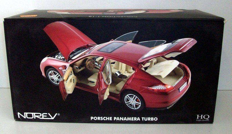 1/18 Norev Коллекционная модель Porsche Panamera Turbo 2009, красный