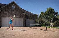 Складной комплект для игры в большой / пляжный теннис (2 ракетки, 2 мяча, сетка), фото 1