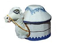 Коржын в виде верблюда с белой юртой, 35 см