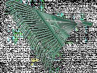 Грабли GRINDA, веерные усиленные, 22 плоских зубца