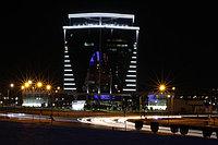 Новое здание компании KEGOC. Оформление светодиодными трубками общей протяженностью около 2000 метров.