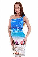 Летнее пляжное платье из вискозы Куба.