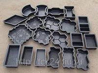 Пластиковые формы для изготовления брусчатки и тротуарной плитки