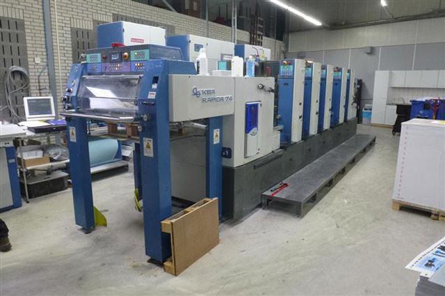 KBA Rapida 74-5 SW 2 б/у 2003г - 5-красочная печатная машина