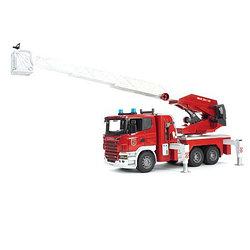Bruder Игрушечная Пожарная машина Scania выдвижной лестницей и помпой (Брудер)