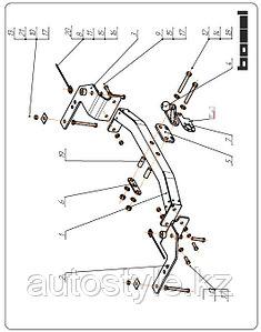 Фаркоп TOYOTA Land Cruiser 200 2007- г.в., 3091-FL, Bosal, 2000/120кг