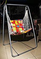 Качели садовые, одноместные (подвесной стул), красный