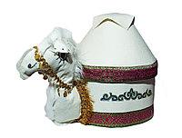 Коржын в виде верблюда с белой юртой, 32 см