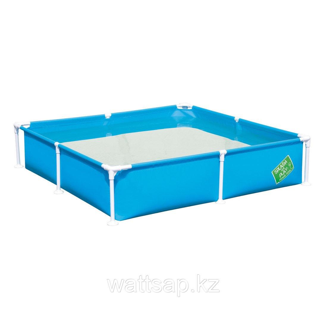Каркасный бассейн, BESTWAY, 56218, 162х162х35.5 см, 771 литр, Винил, Цвет в ассортименте, Цветная коробка