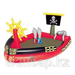 Надувной детский бассейн, BESTWAY, 53041, 190x140x96 см, 212 литров, Винил, Красно-Чёрный, Цветная коробка
