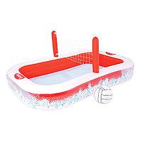 Надувной детский бассейн, BESTWAY, 54125, 254х168х97 см, 636 литров, Винил, Красно-Белый, Цветная коробка, фото 1