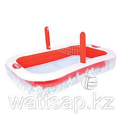Надувной детский бассейн, BESTWAY, 54125, 254х168х97 см, 636 литров, Винил, Красно-Белый, Цветная коробка