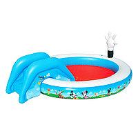 Надувной бассейн, BESTWAY, 91014, 231х165х79 см, 219 литров, Винил, Бело-Красный, Цветная коробка