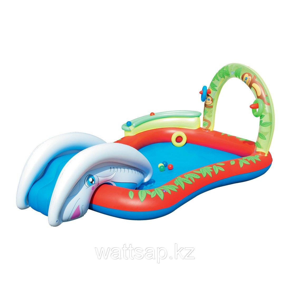 Надувной детский бассейн, BESTWAY, 53051, 279х173х102 см, 250 литров, Винил, Красно-Синий, Цветная коробка