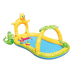 Надувной детский бассейн, BESTWAY, 53030, 290х170х137 см, 300 л., Жёлто-Зелёный, Цветная коробка