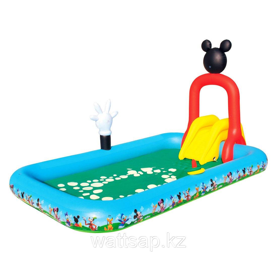 Надувной бассейн, BESTWAY, 91016, 320х175х157, 436 литров, Винил, Бело-Зелёный, Цветная коробка