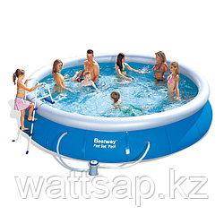 Надувной бассейн, BESTWAY, 57280 (57124), 457х91 см, 10179 литров, Винил, Голубой, Цветная коробка
