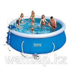 Надувной бассейн, BESTWAY, 57289 (57148), 457х122 см, 13807 литров, Винил, Голубой, Цветная коробка
