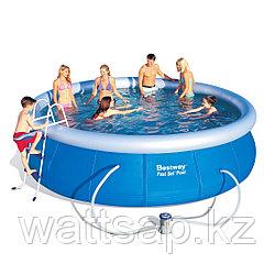 Надувной бассейн, BESTWAY, 57294 (57127), 457х107 см, 12362 литра, Винил, Голубой, Цветная коробка