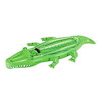 Игрушка для плавания, BESTWAY, 41011, Крокодил, 203х117 см,  Винил, Зелёный, Цветная коробка